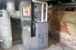 new installed furnace